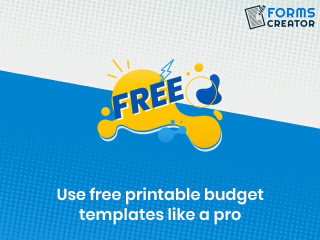 Free Printable Budget Templates - Forms Creator