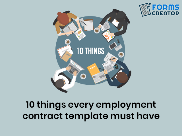 10 Must-Haves of Employment Contract Template - Forms Creator