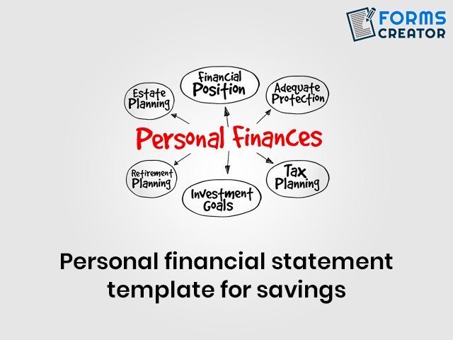 Personal Financial Statement Template for Savings - Forms Creator
