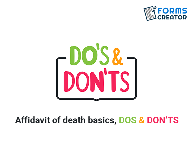 Affidavit of Death - Basics - Forms Creator