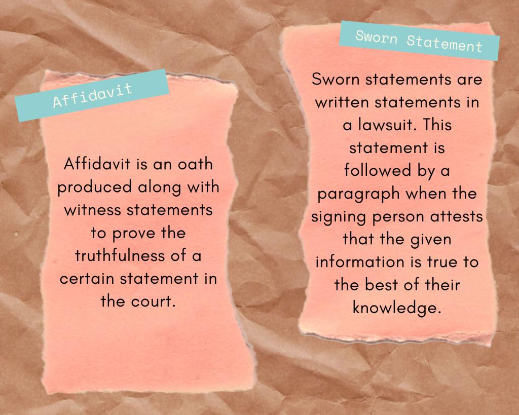 Difference between Affidavit & Sworn Statement - FormsCreator
