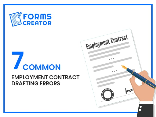 7 Drafting errors in Employment Contract that needs to be fixed